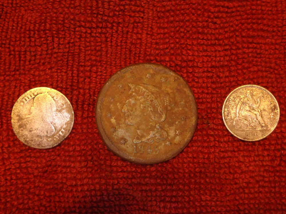 colonial coins found relic hunting