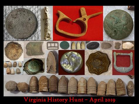 April 2019 Virginia History Hunt Highlights