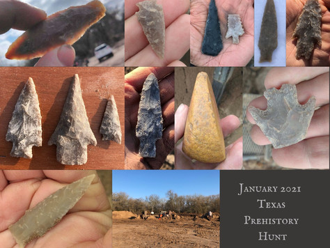 January 2021 Texas Prehistory Hunt Highlights!