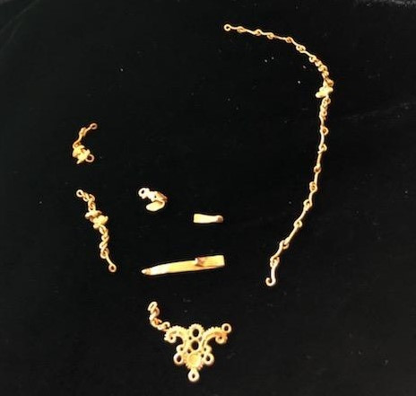 Golden Rosary Chain Elements