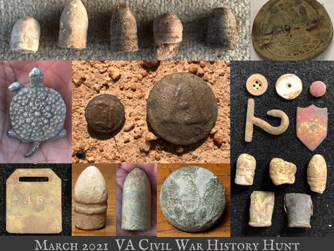 March Virginia Civil War Hunt Highlights