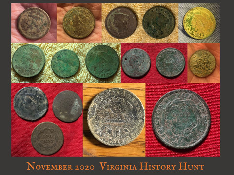 November 2020 Virginia History Hunt Wrap Up
