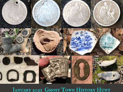 January 2021 Ghost Town Metal Detecting Wrap Up