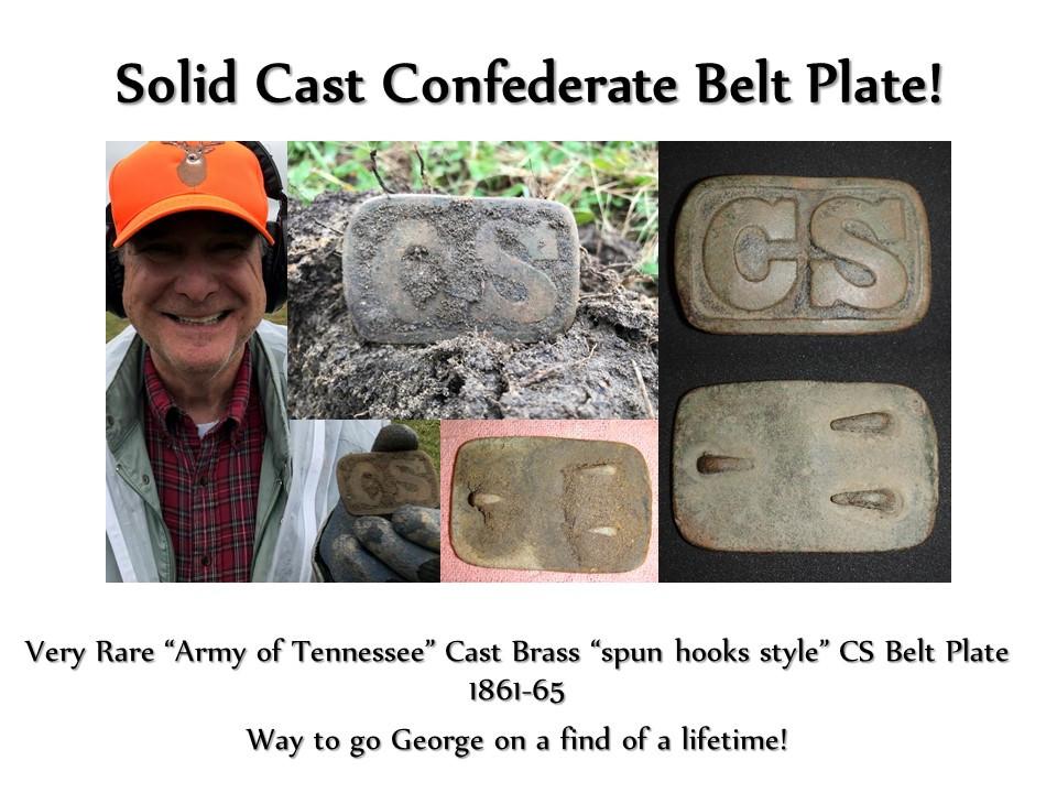 Civil War Confederate belt plate buckle