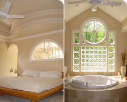 Master bed + bath