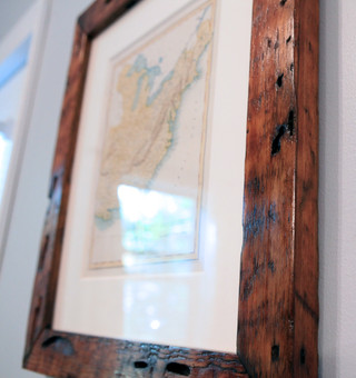 handfinished: eco-friendly cherry stain on salvaged lumber