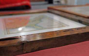 handfinished: eco-friendly walnut stain on salvaged lumber
