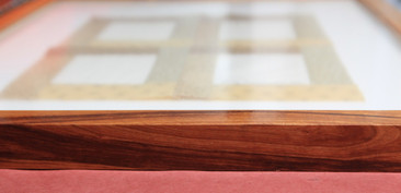 eco-friendly cherry stain on salvaged pine