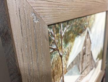 handfinished: eco-friendly grey stain wash on salvaged barnwood
