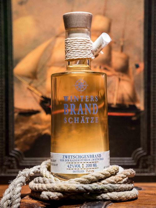 2016er Zwetschgenbrand aus dem Bourbon-Whiskey-Fass