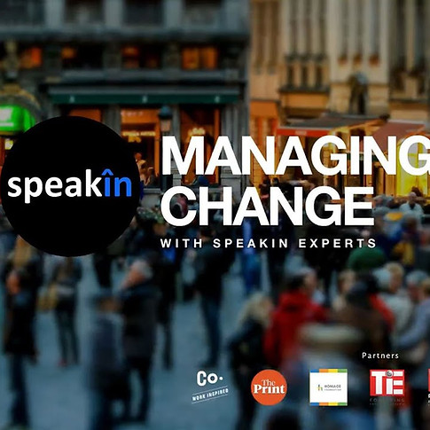 Speakin Managing Change Webinar