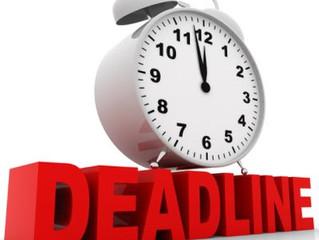 Filing Deadline Extension