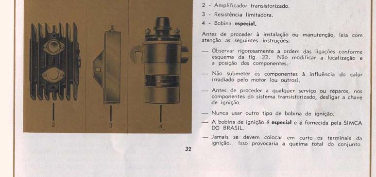 32 Ignição transistorizada