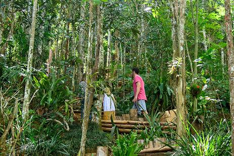 Trilha na Pousada Bei Cantoni, que é uma reserva particular de patrimonio natural (RPPN) e conta com atividades ao ar livre.