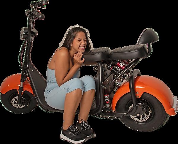 Scooter Elétrica GooMove - Laranja