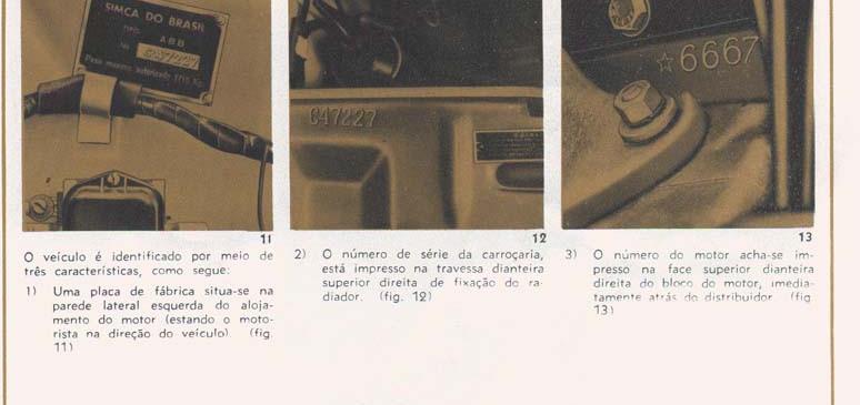 14 Identificação do veículo