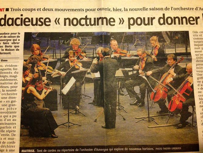 (仏)オーベルニュ室内管弦楽団 ゲストコンサートミストレス