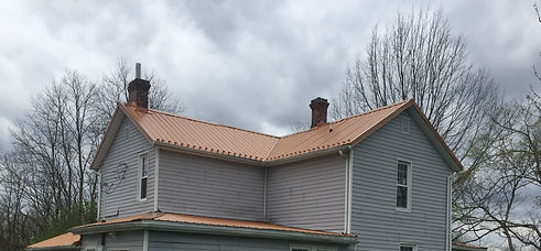 Native Copper Sheet Metal Roof