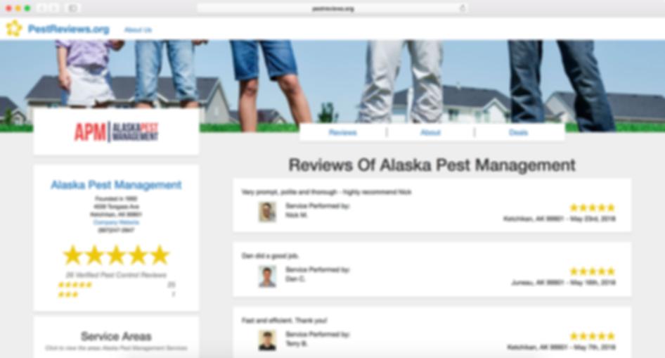 Alaska Pest Management Pest Reviews