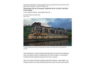 """Revamped """"Mill at Occoquan"""" features fewer condos, top floor event space"""