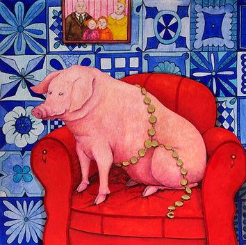 cochon, aquarelle valerie dumas