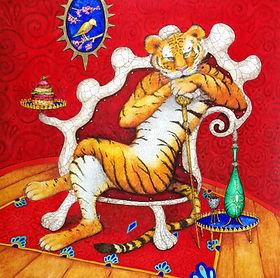 tigre, aquarelle valerie dumas