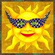 soleil, aquarelle valerie dumas