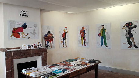 exposition à La Maison de l'Illustration de Sarrant