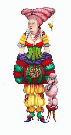 MéliMélo femme aquarelle valerie dumas