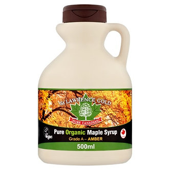 Pure Organic Canadian Maple Syrup Grade A Amber, Rich Taste