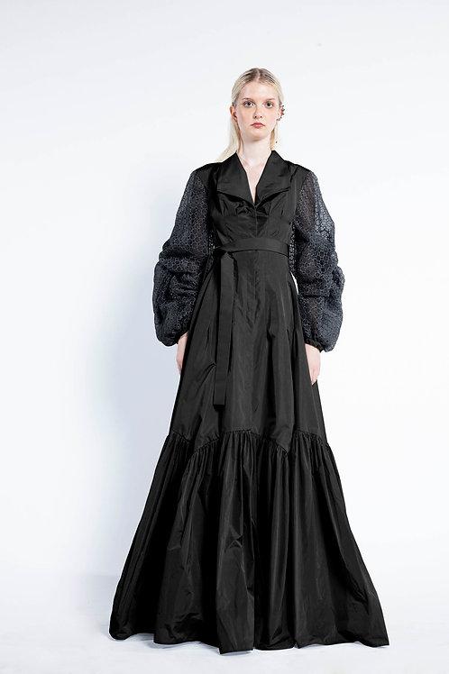 Black Long Chemisier Dress