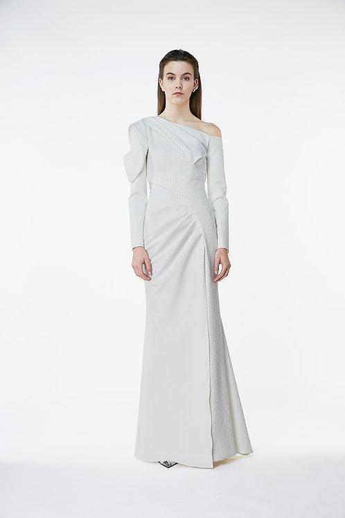 Petal Monoshoulder Dress