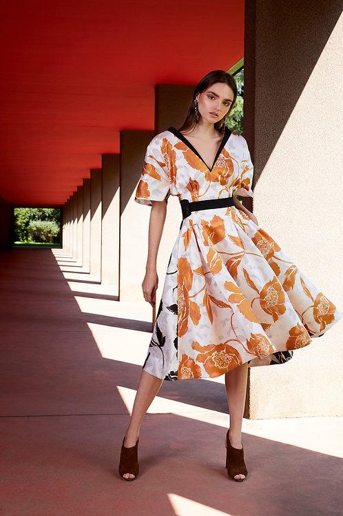 Floral Devorè Midi Dress