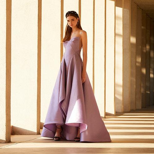 LILLA PLEATED WATERFALL DRESS