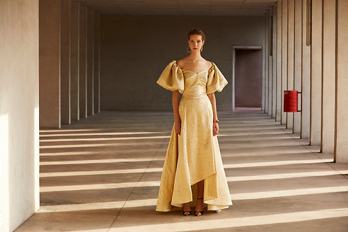 Gold Jacquard Gown