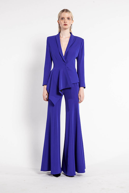 Blue Iris Pleated Blazer