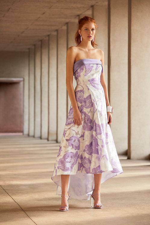 Floral devorè midi cocktail dress