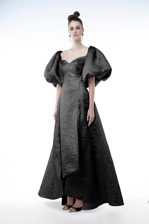 Black Jacquard Gown