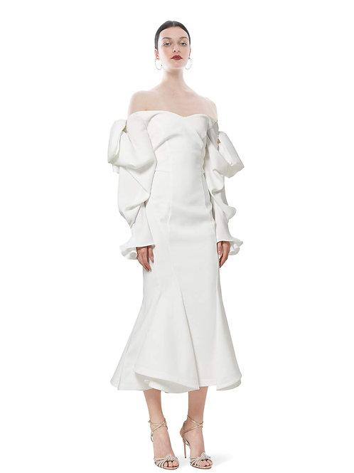 WHITE FARFALLA DRESS
