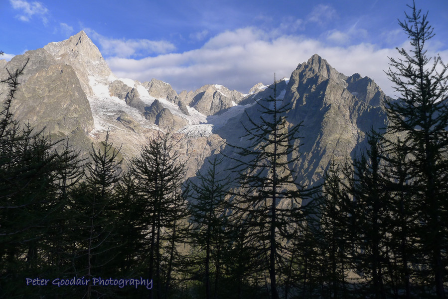 Les Grandes Jorasses from the Mont Blanc Trail
