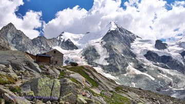 The High Peaks Above Zinal in the Vallais Region of Switzerland