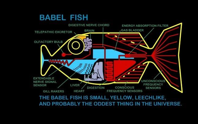 Вавилонская рыбка из «Автостопом по галактике»