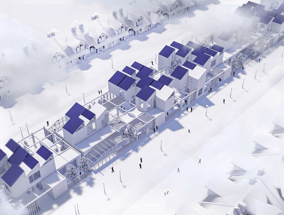 The Cluster Micro Neighborhood | Low-Rise Housing Ideas for Los Angeles 2021