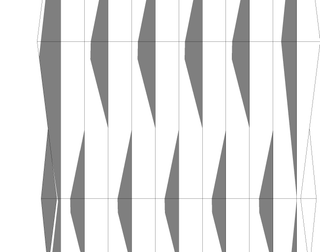 Wave Facade in Autodesk #Revit using Adaptive Components.