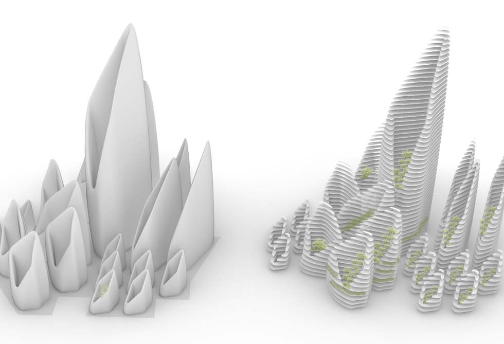 Glacier Fuuristic City Model