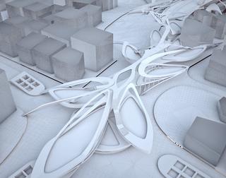 Breath Line Urban Corridor | Elevated Graden's Aerial view