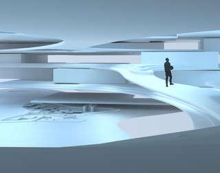Hybrid City Civic Center | Space Study