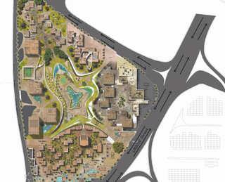 Hybrid Civic Center | Master plan Drawing