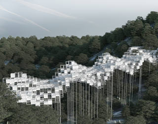 Voxel City on a Bridge |2019