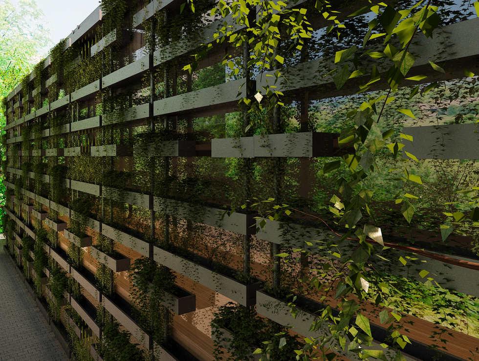 🌿 Planter Box Façade Design | Vertical Garden
